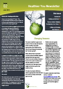 June 2014 Healthier You Dietitian Newsletter